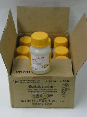 "KODAK C41 Final Rinse and Replenisher Makes 10 liter 8136368  ""AS IS"""