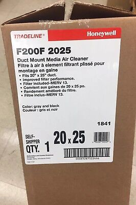 Honeywell Merv13 Media Air Cleaner 20X25, 4' Filter F200F2025