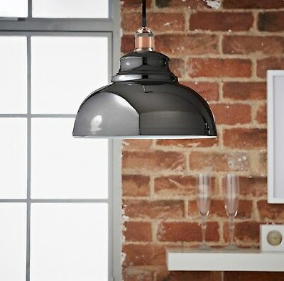 Pendant Hanging Vintage Light Various Colours Finishes Ceiling Fitting Lamp E27