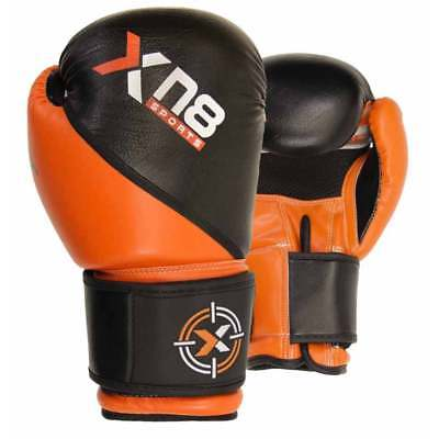 XN8 Moti Hide Leather Boxing MMA Gloves Punch Training Mitts Sparring Muay Thai