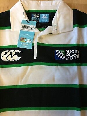 Canterbury RWC 2015 Hoop Stripe Supporters Jersey Rugby Shirt Long Sleeve