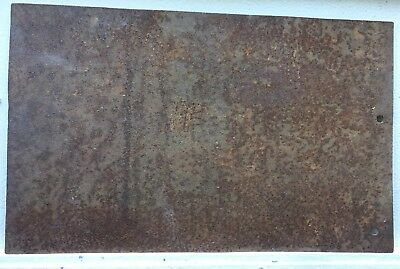 Rusty Steel Sheet ~ Old Tool Shed Barn Find Steampunk  Shabby Artwork Repurpose