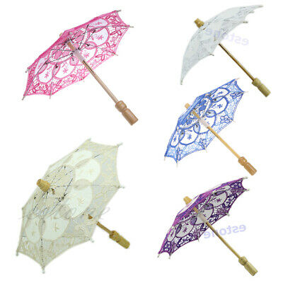 Elegance Lace Embroidered Parasol Umbrella For Bridal Wedding Party Decoration