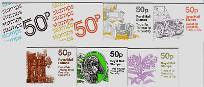 GB 50p Folded Booklets 1977-1984  FB1A-FB30  Single Booklets PART ONE