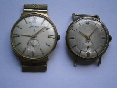 Job lot of vintage gents ACCURIST watches mechanical watches spares or repair