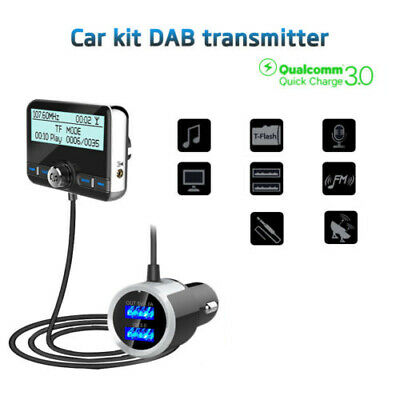 LCD Bluetooth In-Car DAB Radio Receiver Tuner USB Adapter FM Transmitter Antenna