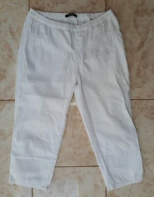 George Ladies Size 12 White Shorts Crop Trouser Holiday Wear Leggings Jeggings