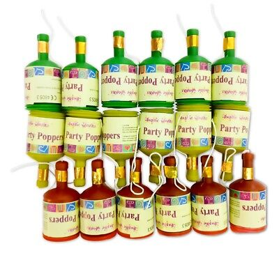 18pc Party Poppers Party Supplies Favours Party Bag Fillers Premium Quality