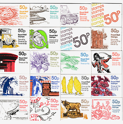 GB Sets  50p Folded Booklets 1977/1995