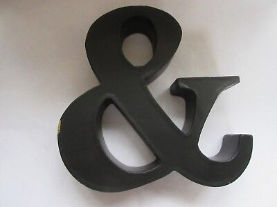 VINTAGE WOODEN PAINTED AMPERSAND '&' SIGN - WALL or FREE STANDING - CHARITY