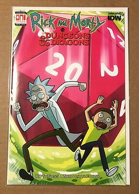 Rick and Morty vs Dungeons & Dragons #1 IDW Oni Press Comic Exclusive NM RARE