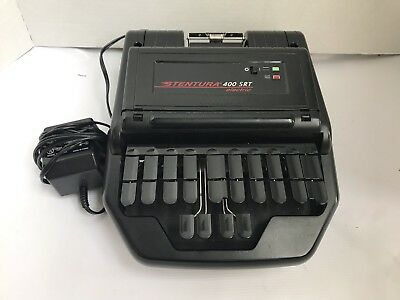 Stentura 400 SRT Electric Stenograph Court Reporting Machine with Power Supply