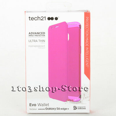 Tech21 Evo Wallet Case Folio Flip Cover for Samsung Galaxy S6 Edge+ Plus Pink