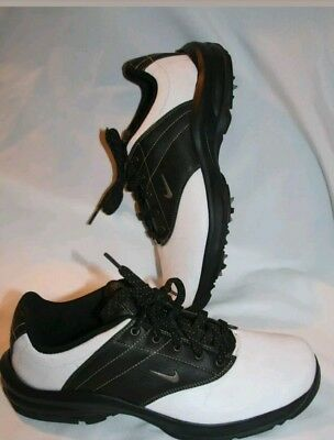 pretty nice 7aa6f 97a77 Nike Youth Golf Shoes Size 6y Cleats Black White Will fit Mens 6  Women s 7  7.5