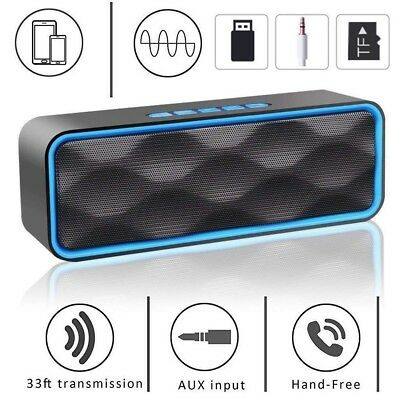 Altoparlante Wireless Bluetooth 4.2 Cassa Speaker Portatile FM Radio Slot TF USB