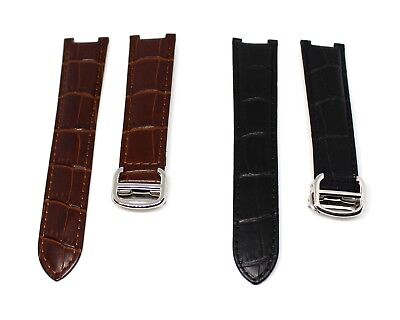 18mm / 20mm Genuine Leather Strap band for Cartier Pasha with Buckle