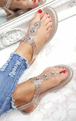 7aeac49e87237e IKRUSH WOMENS AMERIE Diamante Embellished Sandals - £14.99
