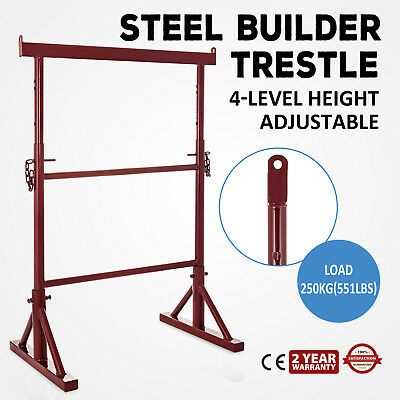 4 Level Height Adjustable Steel Builder Trestle Powder-Coated Painter Stability