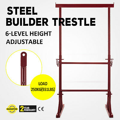 Level Height Adjustable Steel Builder Trestle Iron Powder-Coated Industrial