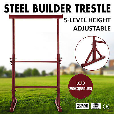 5 Level Height Adjustable Steel Builder Trestle Telescopic Powder-Coated Stable