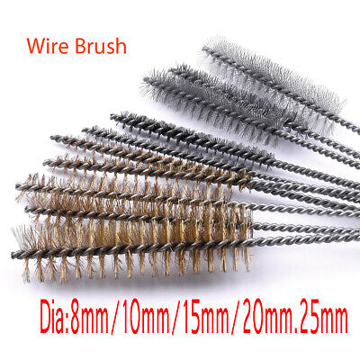 Mini Pipe Cleaning Brushes Metal Remover Dust Rust Brass Glass Bottle Cleaner