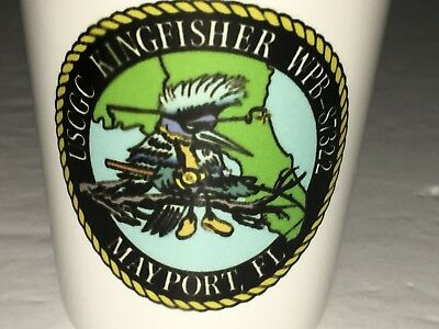 USCGC KINGFISHER WPB-87322 COAST GUARD CUTTER Shot glass Mayport Florida