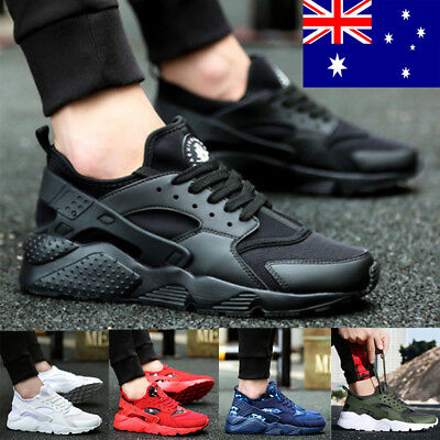 Men Mesh Breathable Sports Running Athletic Sneakers Trainers Lace Up Soft Shoes