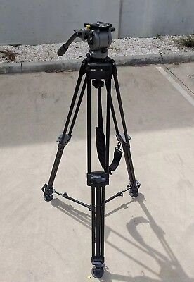Miller Fluid head DS10 with 2 Stage Alloy Tripod and carry bag