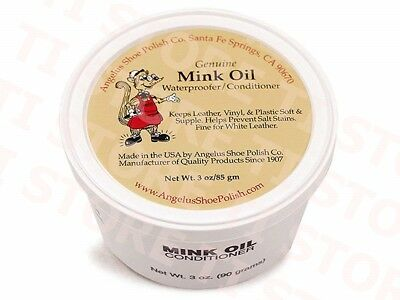 Angelus Mink Oil Paste Leather Waterproof & Conditioner 3oz Boots Shoes Jackets