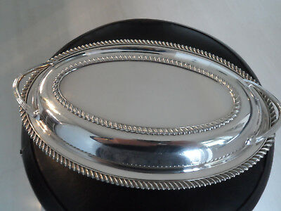 Vintage Silver Plate  Epns Entree Serving Dish  - Made By Elkington -  Gleaming