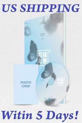 US SHIPPING BTS-[In The Mood For Love Pt.2] Blue 4th Mini CD+PhotoBook+Card+Gift
