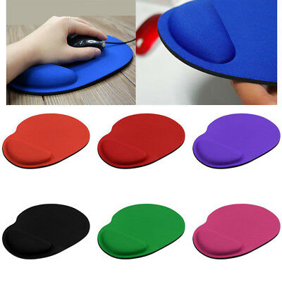 Anti-Slip Mouse Mat Pad With Foam Wrist Support Pc & Laptop ~Uk Seller