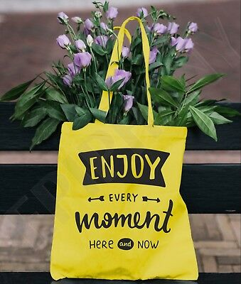 Tote Bag Shopping Birthday Gift Christmas Leaving Live In The Moment Wellness