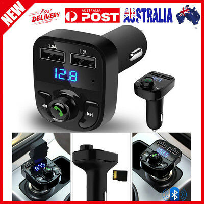 Wireless Bluetooth Hands-free FM Transmitter MP3 Player Dual USB Charger Car Kit