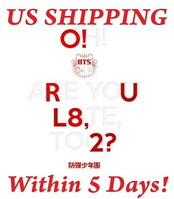 US SHIPPING BTS-[O!RUL8,2?] 1st Mini Album CD+Photo Card+Booklet+Poster/On+Gift