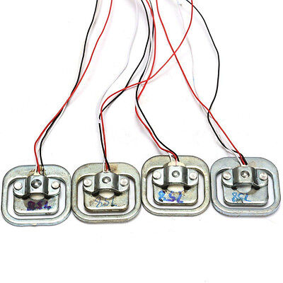 4PCS 50Kg Body Load Cell Weighing Sensor Resistance strain Half-bridge TotalFE