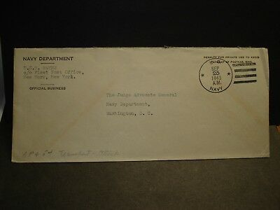 USS WAYNE APA-54 Official WWII Naval Cover 1943 Attack Transport