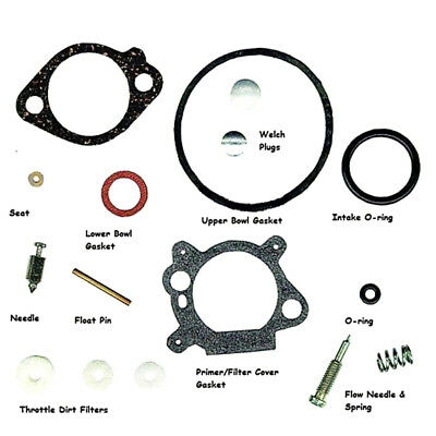 Metal Carburetor Carb Rebuild Set Kit With Gasket Fit for 3.5/4/5hp 498260