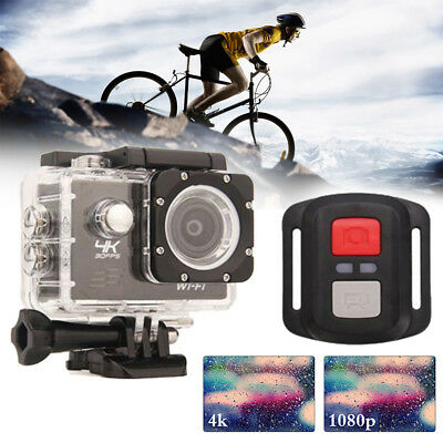 New Gopro FHD 4K 16MP Action Camera Wifi Video Waterproof + 30PCS Accessories UK