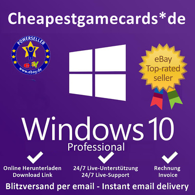 MS Windows (7/8.1/10 HOME, PRO, ULTIMATE)  1-5 PC, OEM, Produkt-key per email