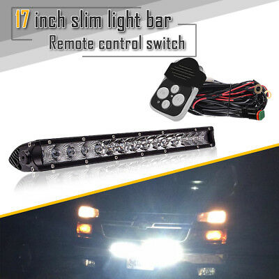 "17""in LED Work Light Spot Flood Beam Offroad Single Row Super Brighter Light 80W"