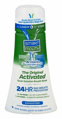 Smart Mouth Original Mouthwash 24HR Fresh Breath Fresh Mint 16 oz (Pack of 9)