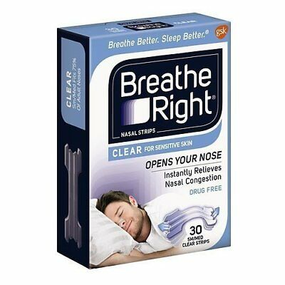 Breathe Right Nasal Strips, Small/Medium, Clear 30 ea