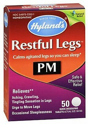 Hyland's Restful Legs Relief Quick-Dissolving Tablets 50 Count (Pack of 4)