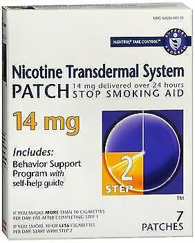 Habitrol Nicotine Transdermal System Patch 14 mg Step 2 - 7 ct, Pack of 6