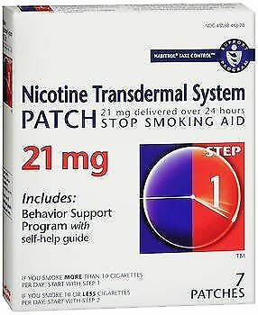Habitrol Nicotine Transdermal System Patch 21 mg Step 1 - 7 ct, Pack of 2