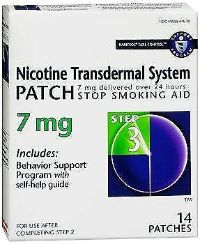 Habitrol Nicotine Transdermal System Patches 7 mg Step 3 - 14 Patches, Pack of 5