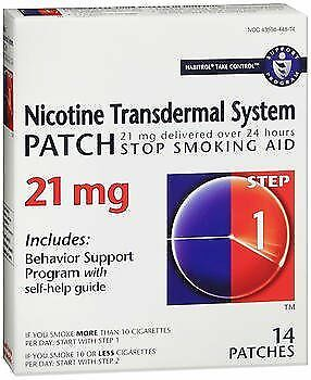 Habitrol Nicotine Transdermal System Step 1, 21mg Stop Smoking Aid - 14 each,...