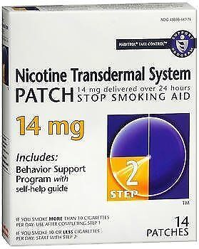 Habitrol Nicotine Transdermal System Step 2, 14 mg Stop Smoking Aid - 14...