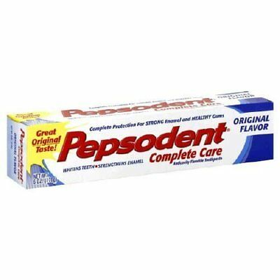 Pepsodent Complete Care Toothpaste Original Flavor, 5.5 oz. Pack of 2